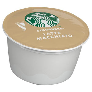 Starbucks Latte Macchiato Coffee Capsules - 12 Capsules (129g) - For Nescafe Dolce Gusto. - shopperskartuae