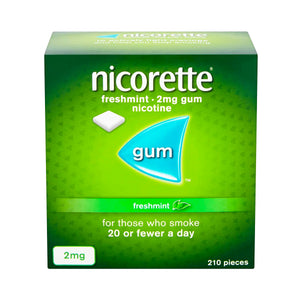 Nicorette Freshmint Sugar-Free Gum 2mg 210 Pieces.