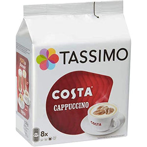 Tassimo Costa Cappuccino Coffee Discs (8 servings). - shopperskartuae