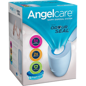 Angelcare Nappy Disposal System With Odour Seal (Blue). - shopperskartuae