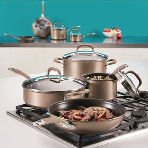 Circulon Premier Professional 13-piece Hard-anodized Cookware Set Stainless Steel Base. - shopperskartuae