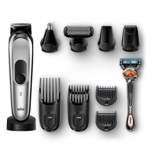 Braun 10-in-1 All-in-One Trimmer (MGK7021) - Beard Trimmer and Hair Clipper Body Groomer Ear Nose Hair Trimmer Mini Shaver and Detail Trimmer (Black/Grey).
