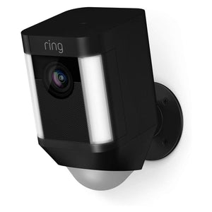 Ring Spotlight Cam Battery 1080p Outdoor Wi-Fi Camera with Night Vision (Black, 2 Pack). - shopperskartuae