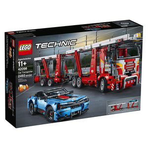 Lego Technic Car Transporter 42098 Toy Truck and Trailer Building Set with Blue Car, Best Engineering and STEM Toy for Boys and Girls (2493 Pieces). - shopperskartuae