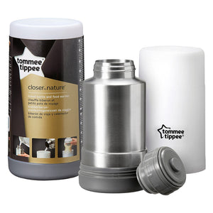 Tommee Tippee TT423000 Closer To Nature Travel Bottle & Food Warmer (White). - shopperskartuae