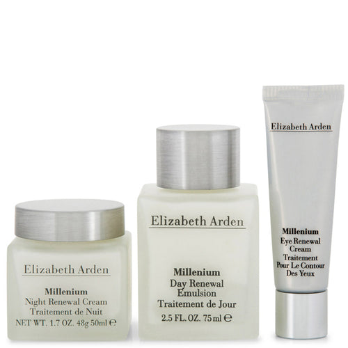 ELIZABETH ARDEN Millenium Day + Night + Eye Renewal Cream Emulsion - 3 Piece Set - shopperskartuae