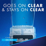 Gillette Antiperspirant Clear Gel (108g) - Cool Wave Deodorant with Scent XTend Technology.