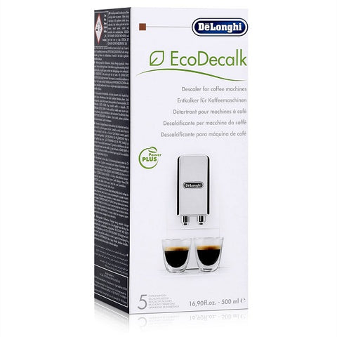 De'Longhi Natural Descaler For Coffee Machines, White, 500 ml - shopperskartuae