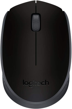 Logitech M171 Wireless Mouse, 2.4 GHz with USB Mini Receiver, Optical Tracking, 12-Months Battery Life, Ambidextrous PC/Mac/Laptop - Black