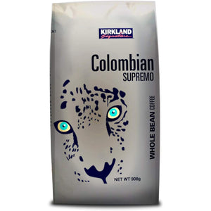 Kirkland Signature Colombian Supremo Whole Bean Coffee (908g). - shopperskartuae