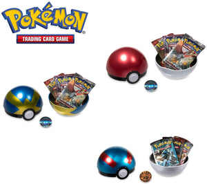 Pokémon TCG Pokeball Tins & Trading Cards 3-pack, Great Quick Set