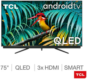 "TCL 75"" 4K Ultra HD Premium QLED Smart Android TV with Freeview Play - 75C815K"