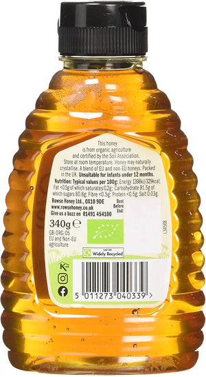 Rowse Organic Natural Honey Squeezy 340g