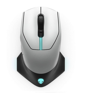 Alienware Wired/Wireless Gaming Mouse AW610M: 16000 DPI Optical Sensor - 350 Hour Rechargeable Battery Life - 7 Buttons - 3-Zone Alienfx RGB Lighting.