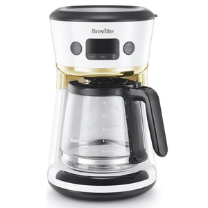 Breville Mostra Easy Measure Filter Coffee Machine VCF116 (White).