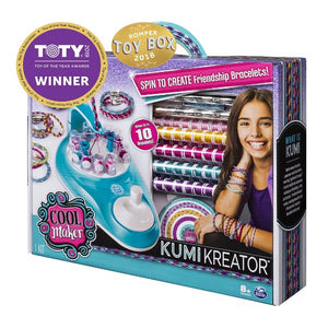 Cool Maker KumiKreator Friendship Bracelet Maker, Quick & Easy Activity Kit for Kids Ages 6 and Up - shopperskartuae