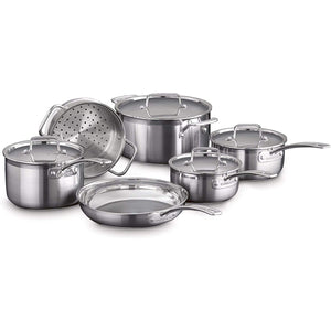 Cuisinart Multiclad Pro Professional Triple Ply Stainless Steel Cookware Set - 10 Piece set