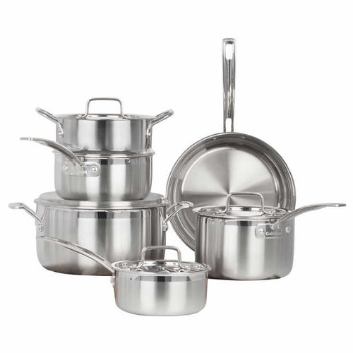 Cuisinart Multiclad Pro Stainless-Steel 10-pc Cookware Set - shopperskartuae