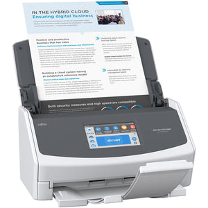 Fujitsu ScanSnap iX1500 Color Duplex Document Scanner with Touch Screen for Mac and PC (White). - shopperskartuae