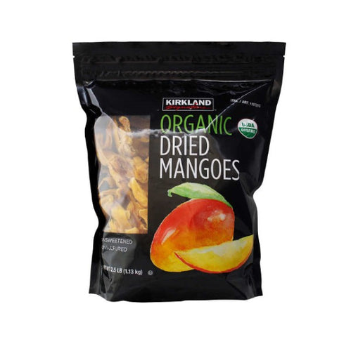Kirkland Signature Organic Dried Mangoes, 1.13 kg - shopperskartuae