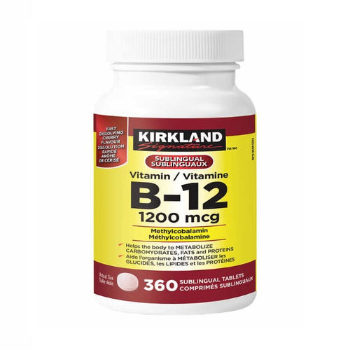 Kirkland Signature Vitamin B-12, 1200mcg, 360 tablets - shopperskartuae