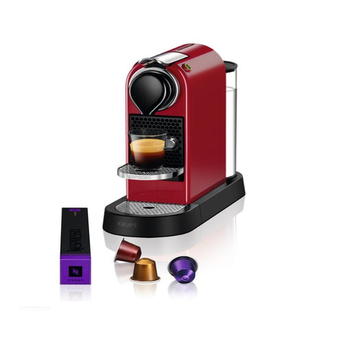 NESPRESSO by Krups CitiZ XN741540 Coffee Machine - Red - shopperskartuae