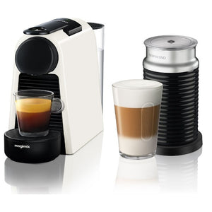 NESPRESSO by Magimix Essenza Mini Coffee Machine with Aeroccino - White with 19 BAR - shopperskartuae