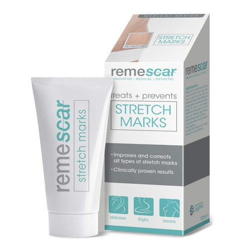 Remescar Stretch Marks Treatment,Cream for Stretch Mark Scars,Clinically Proven Stretch Mark Prevention & Removal Cream for Thighs, Breasts & More. - shopperskartuae