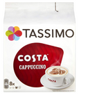 Tassimo Costa Cappuccino Coffee 16 Discs, 8 servings, PACK OF 5 - shopperskartuae