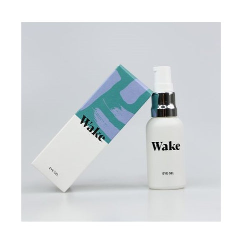 Wake Skincare Eye Gel - Hydrating Eye Serum for Puffy Eyes, Dark Circles, Eye Bags, Crows Feet and Wrinklesn - shopperskartuae