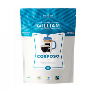 William Spartivento Corposo Dark Roast Fair Trade and Organic Whole Bean Coffee, 908 g - shopperskartuae