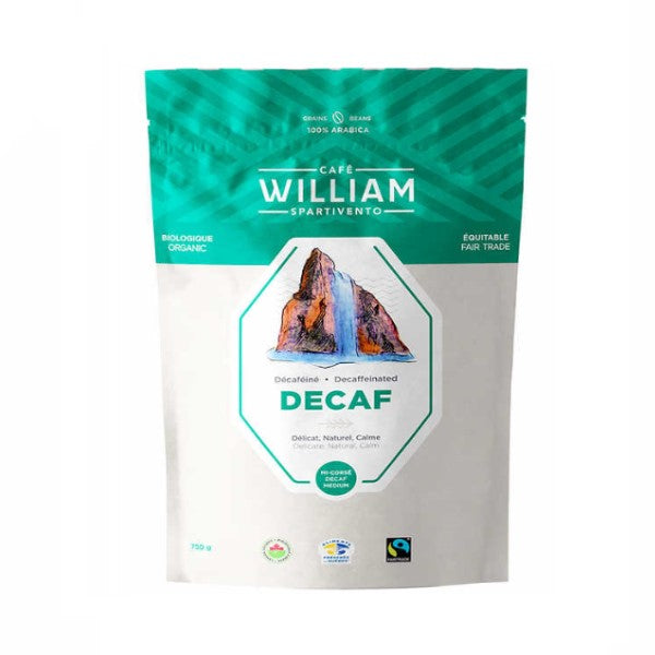 William Spartivento Naturally Decaffeinated Medium Roast Fair Trade and Organic Whole Bean Coffee - shopperskartuae