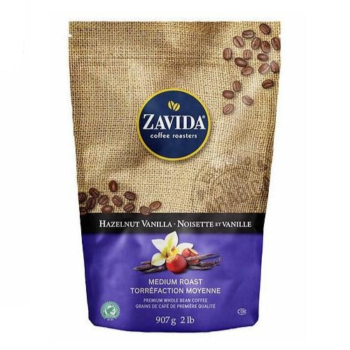 Zavida - Hazelnut Vanilla Whole Bean Coffee. - shopperskartuae
