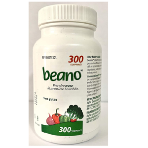 Beano Tablets, Digestion, Gluten Free, Bottle of 300 Super Saver Tablets