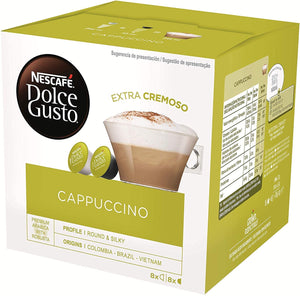 Nescafe Dolce Gusto Cappuccino Extra Cremoso 16 pods 8 cups pack of 5 - shopperskartuae