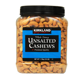 unsalted cashews - Kirkland signature