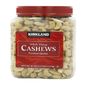 Kirkland Signature (roasted whole) cashews 1.13kg