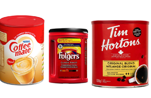 Tim Hortons +Folgers Classic Roast Ground Coffee+Nestle Coffee mate 1KG