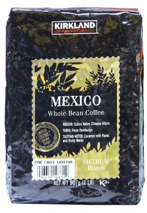 kirkland signature Mexico whole bean Coffee 907g medium roast