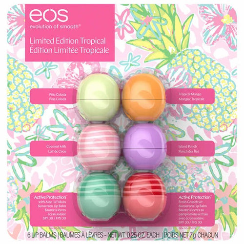 eos, Spring Tropical Lip Balm, 6-pack - shopperskartuae