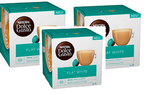 NESCAFE DOLCE GUSTO FLAT WHITE COFFEE PODS, 16 CAPSULES
