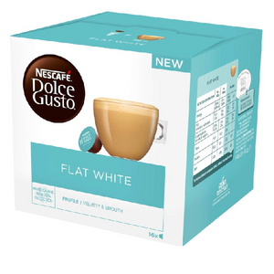 Nescafe Dolce Gusto Flat White Coffee Pods, 16 Capsules - shopperskartuae