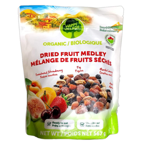 Happy Village Organic Dried Fruit Medley 567g