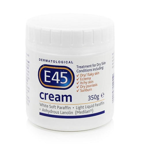 E45 Dermatological Cream Treatment For Dry Skin Conditions (350g) - shopperskartuae