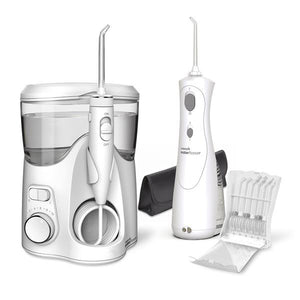 Waterpik Ultra Plus Water Flosser & Cordless Plus Water Flosser Combo WP-150UK/WP-470 - shopperskartuae