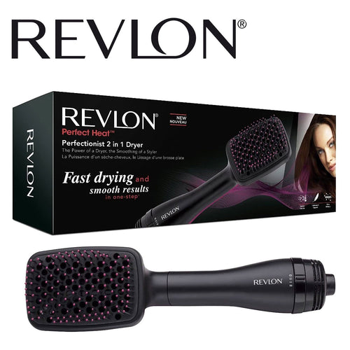Revlon Perfectionist Paddle Thermal Brushes Hair Dryer 2 in 1. - shopperskartuae