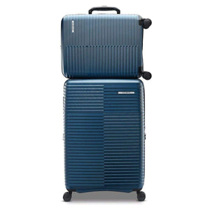 Samsonite Stack-IT 2 Piece Hardside Suitcase/Luggage Set Wheel Spinner (Blue) - shopperskartuae