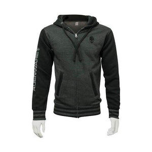 Alienware Varsity Zip Up Hoodie -Gunmetal/Charcoal. - shopperskartuae