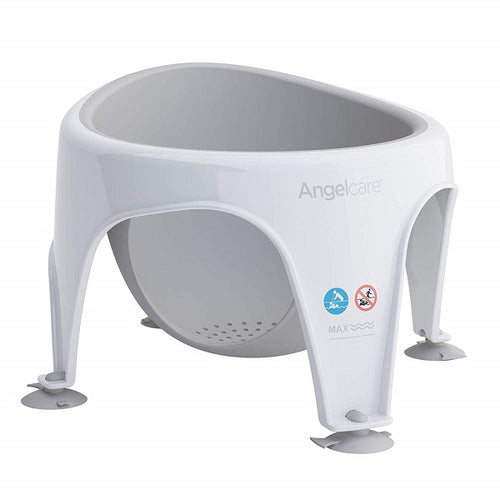 Angelcare Soft Touch Bath Seat (Grey) For Babies From 6-10 Months. - Shoppers-kart.com