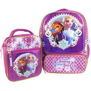 Frozen 2 Backpack with Lunch Bag (Purple). - shopperskartuae